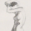 Standing Nude, Gesture<br>Pencil<br>14 X 17 <br>mat<br>1992